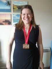 June 2012 proudly showing off my London Marathon medal