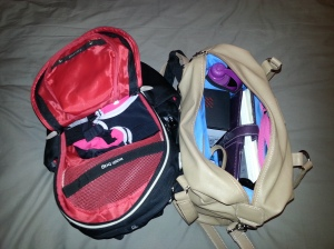 The 'two bag' problem - my Gymwise II for yoga kit and my handbag for work stuff