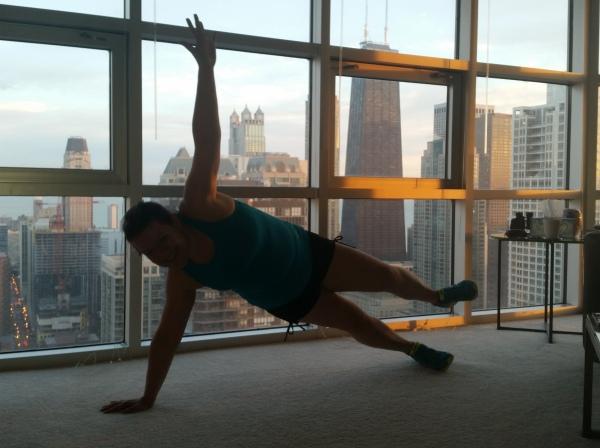 Coregasm in our 52nd floor apartmen