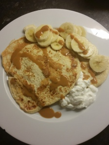 Another post workout winner - protein refuel pancakes with banana. Yum.
